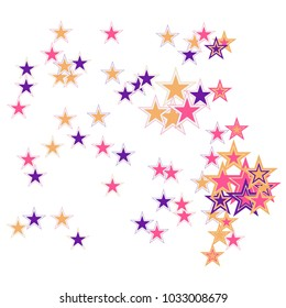 colorful stars confetti vector cosmic abstract frame background christmas new year celebration