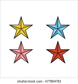 Colorful Stars Vector Icon