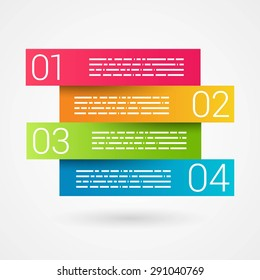 Colorful Step by Step design. Minimal style infographic template layout. Vector Illustration.