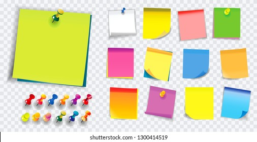 colorful sticky note. using in school or office activity. easy to modify design.