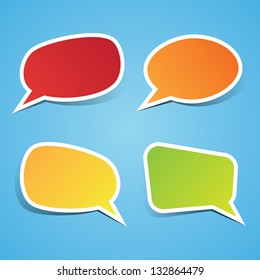 Colorful Sticky Speech Bubbles