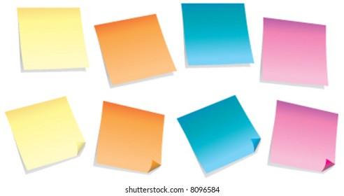 Colorful sticky-notes