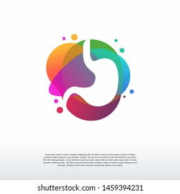 Colorful Stomach Care logo vector, Care logo designs template, design concept, logo, logotype element for template