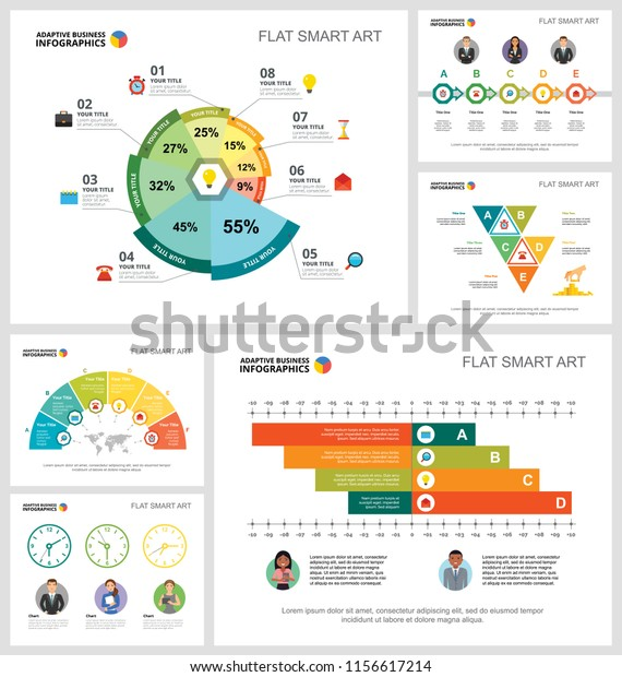 Colorful Strategy Logistics Concept Infographic Charts Stock