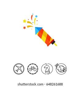 Colorful striped slapstick icon