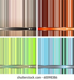 colorful stripes abstract background  vector (4 types)