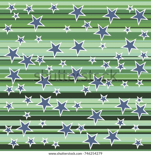 Colorful stripes and stars pattern. Minimalist design. Advertising banner, billboard or card decorative striped background graphic design
