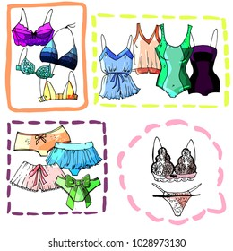 Colorful stylish underwear