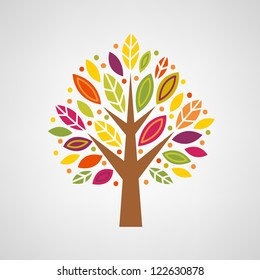 Colorful stylized tree