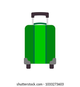 Colorful suitcase icon isolated on white. Travel icon. Vacation icon. Vector illustration.