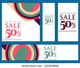 Colorful super sale and discount banner