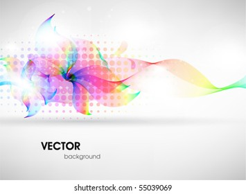 Colorful surface. Vector abstract background with abstract flower
