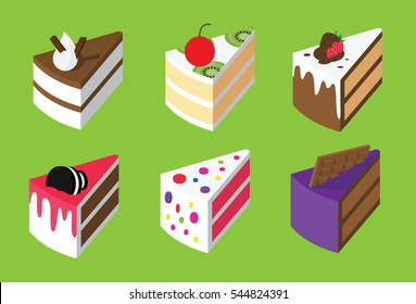 Colorful sweet cakes