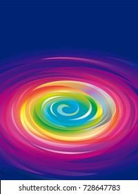 Colorful swirling rainbow abstract background.