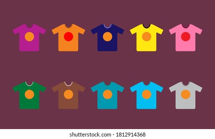 Colorful  t shart vector  design