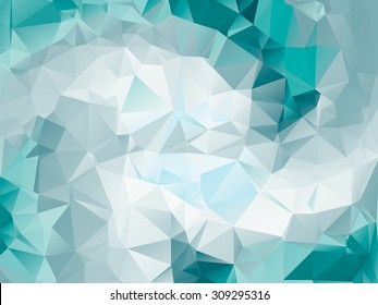 Colorful teal swirl rainbow polygon background. teal polygonal  vector. Abstract Triangle Geometrical Teal Background. Teal Geometric Pattern design for business presentations. white green teal aqua