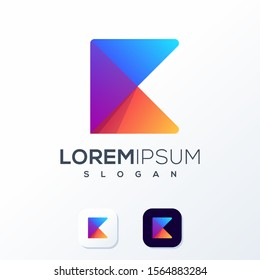 colorful technology logo design idea