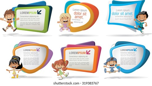 Kids Brochure Template Stock Illustrations Images Vectors - Kids brochure template