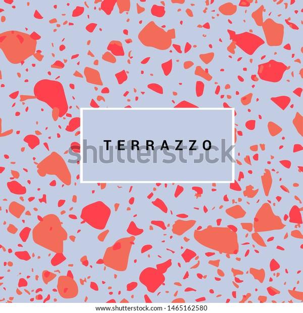 Colorful Terrazzo Flooring Pattern Realistic Color Stock