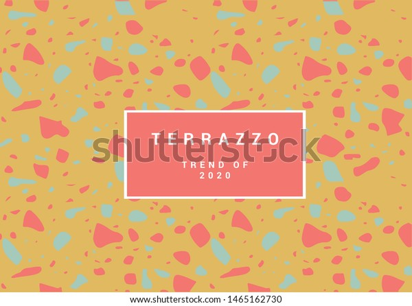 Colorful Terrazzo Flooring Pattern Realistic Color