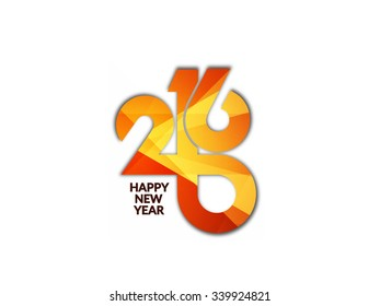 Colorful text design of happy new year 2016.
