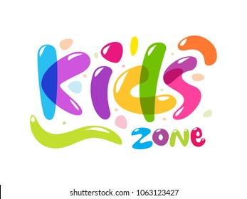Colorful text of Kids Zone