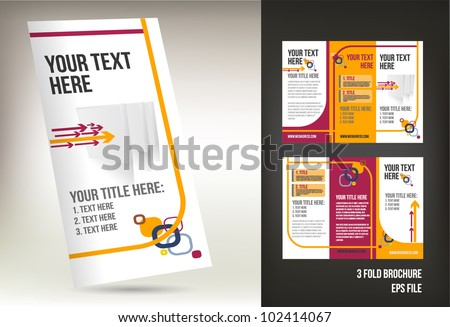 colorful three fold brochure template stock vector royalty free