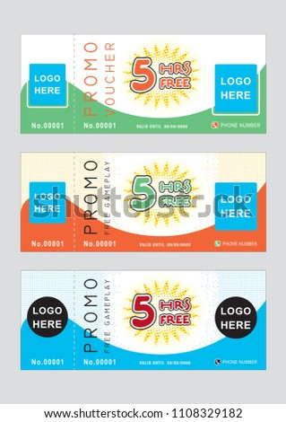 colorful ticket design template stock vector royalty free