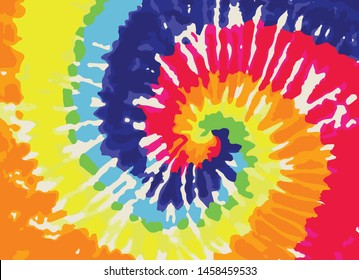 Colorful Tie Dye Pattern Background