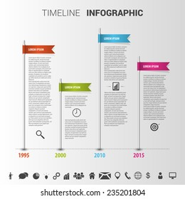 colorful timeline Infographic design template. Vector
