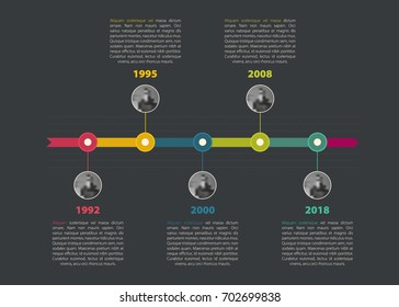Colorful timeline Infographic for your business data.