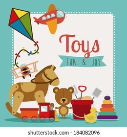 Colorful Toys design, Vector illustration