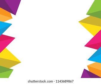 Colorful triangle backgroud for ASIAN GAMES 2018