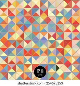 Colorful triangle seamless pattern. Geometric shapes abstract background.