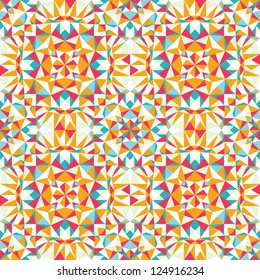 Colorful triangle texture seamless pattern background