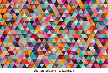 Colorful triangular seamless background or pattern, eps10 vector