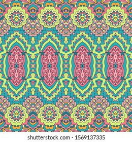 Colorful Tribal Ethnic Festive Abstract Floral Vector Pattern
