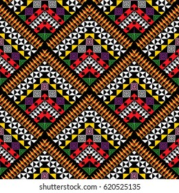Colorful tribal Navajo vector seamless pattern. Aztec abstract geometric art print. ethnic ornament. Vector modern texture for wallpapers, cloth design, fabric, paper, textile.