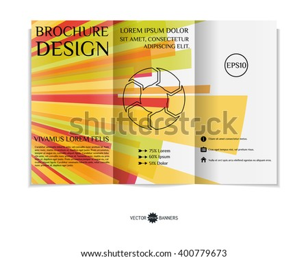 colorful trifold brochure design template modern stock vector