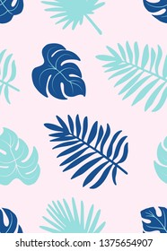 Colorful tropical pattern. Seamless pattern tile.