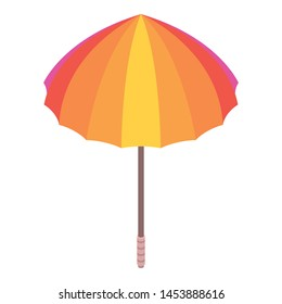 Colorful umbrella icon. Isometric of colorful umbrella vector icon for web design isolated on white background