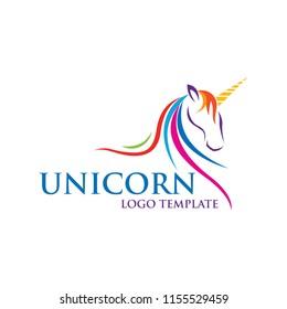 colorful unicorn logo design