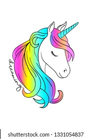 colorful unicorn print