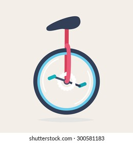 A colorful unicycle, vector illustration