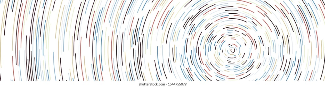 Colorful Universe Circular Distribution Computational Generative Art background illustration