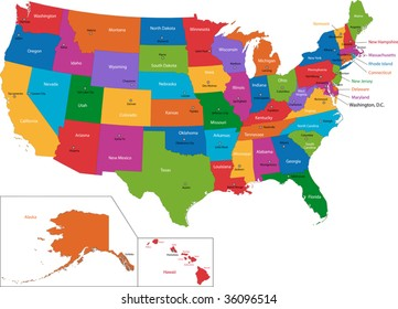 State Capitals Map Stock Illustrations, Images & Vectors ...