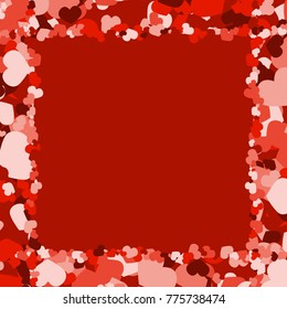 Colorful valentine. Abstract pattern with hearts. Background with hearts. Colorful valentine.