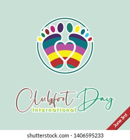 Colorful Vecor design for Clubfoot Day on June 3rd