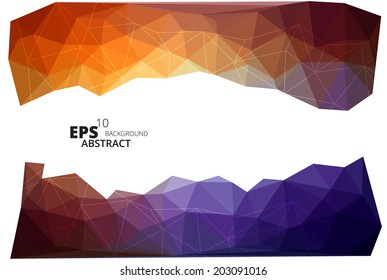 Colorful vector abstract polygonal background eps10