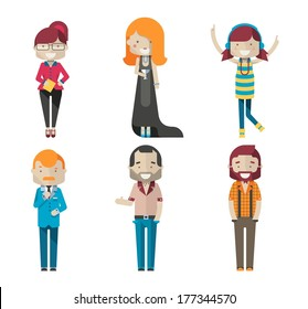colorful vector avatars